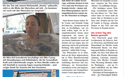SF on Tour featured in Extra-Blick, the newspaper for Southern Upper Austria (German language)